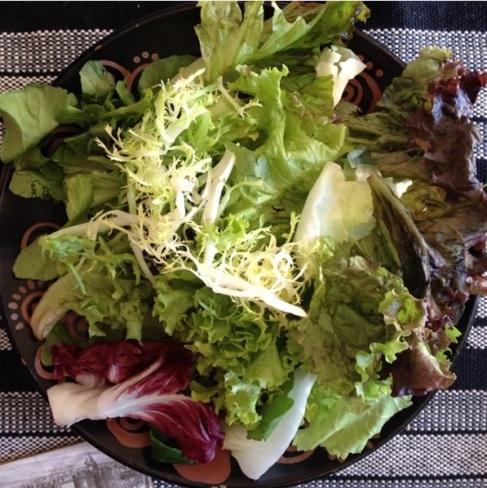 Salada boa tem ingredientes bem sequinhos